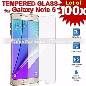 100X Premium Tempered Glass Film Screen Protector 2.5D for Samsung Galaxy Note 5