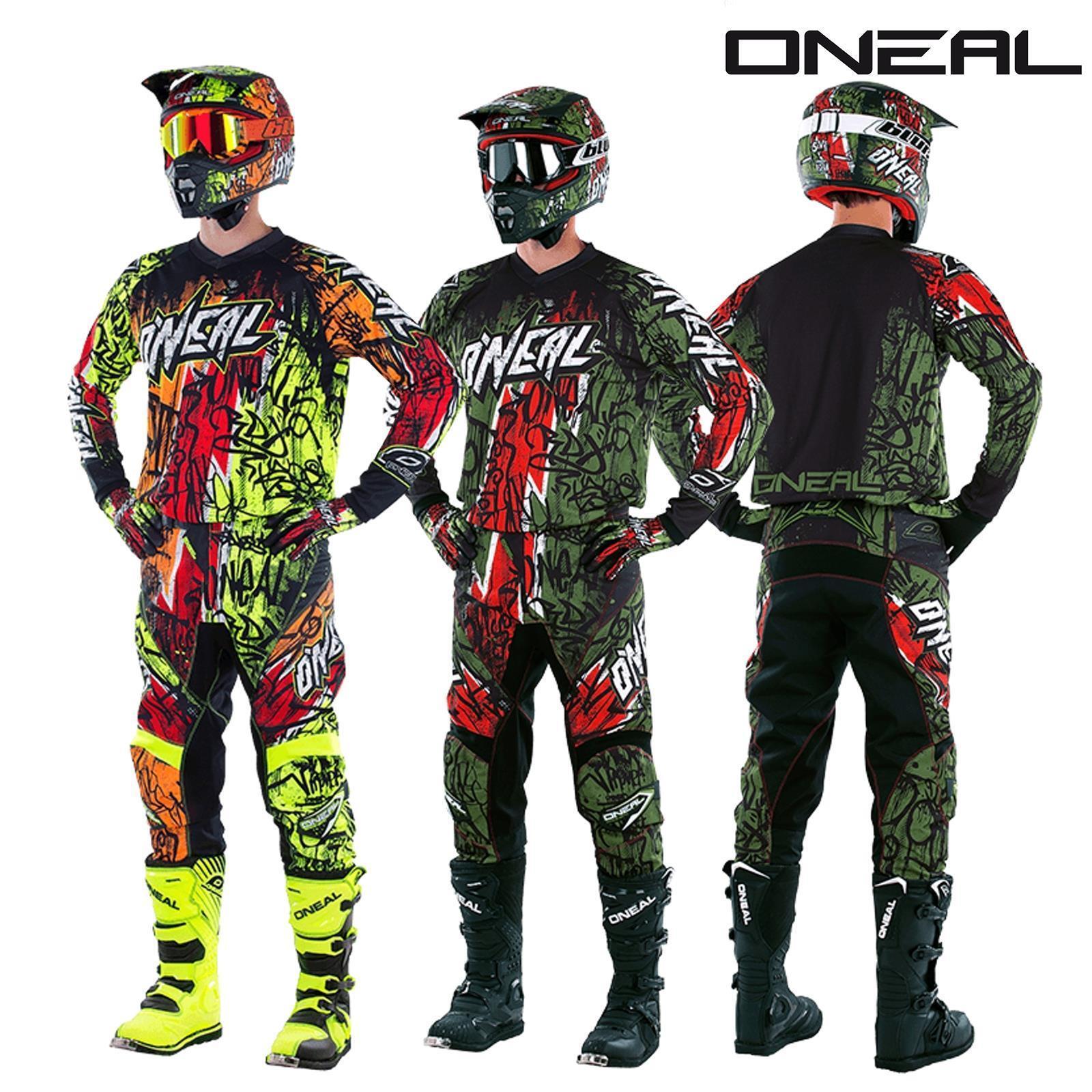 O'Neal EleHommest Vandal Combo Jersey Hose Motocross MX MTB DH Downhill Offroad