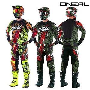 O-039-Neal-elemento-VANDAL-Combo-Jersey-Pantaloni-Motocross-MX-MTB-DH-DOWNHILL-OFFROAD