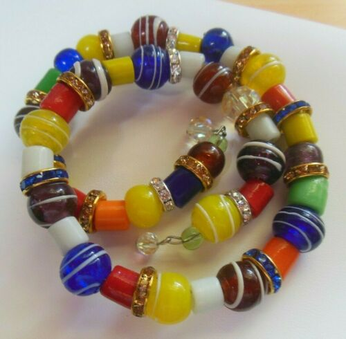 Gypsy multi Crystal Bracelet