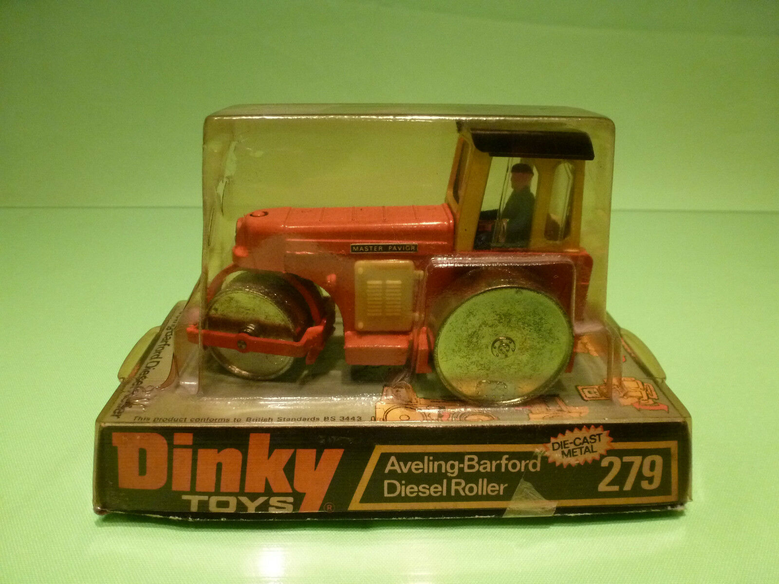 DINKY TOYS 279 AVELING BARFORD DIESEL ROLLER  - RARE SELTEN - GOOD IN BLISTER