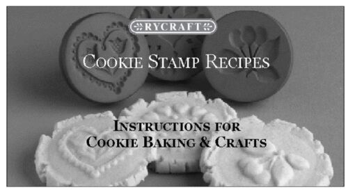 """RYCRAFT 2/"""" Round Cookie Stamp with Handle /& Recipe Booklet--BUTTERFLY"""