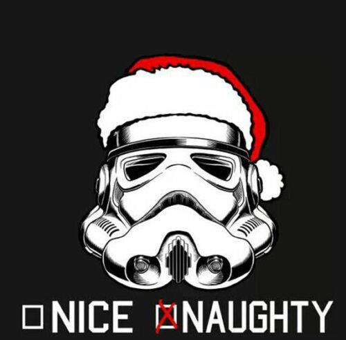 Men/'s Ladies T SHIRT funny STORMTROOPER Christmas santa naughty nice sci-fi