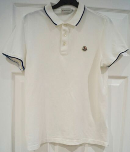 Top Moncler 100 White Branded shirt T Polo Short S Cotton Sleeve Tee Menswear SrPxqS