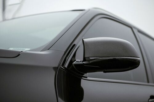 BMW X5M F85 X6M F86 SUV Dry Carbon Fiber Mirror Cover Caps Stick on type For 15