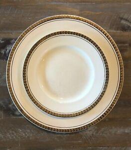 Vintage-Sir-John-Bennett-Gold-Rimmed-Plate-amp-Side-Plate-Sets-Made-in-England