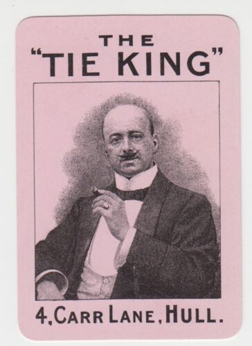 """Playing Swap Cards  GENUINE 1 only single VINTAGE ADVERTISING /""""THE TIE KING/"""""""