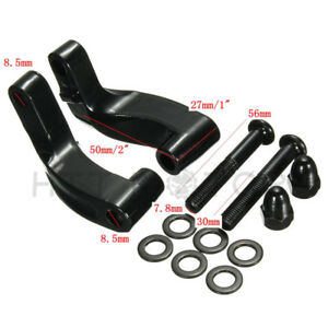 """relocate 1965-UP mirrors 2/"""" higher Black phosphated Mirror extension stem kit"""