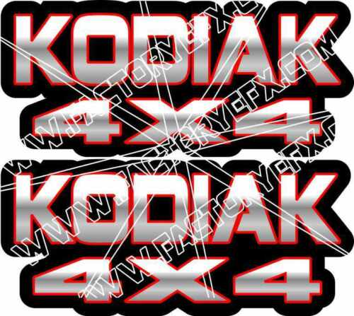 Kodiak 400 450 4x4 Red Gas Tank Graphics Decal Sticker Atv Quad plastic