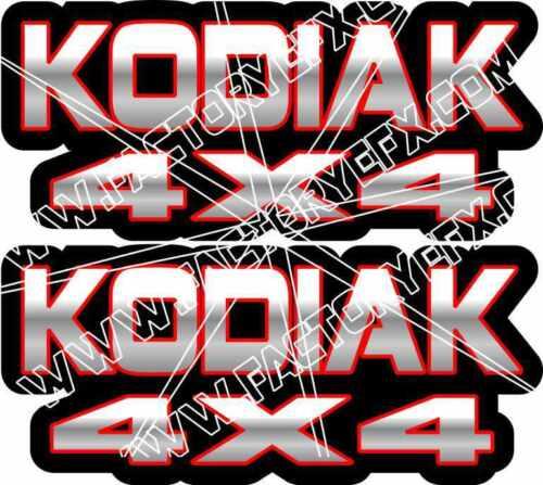 Kodiak 400 450 4x4 Red Gas Tank Graphics Decal Sticker Atv Quad plastic