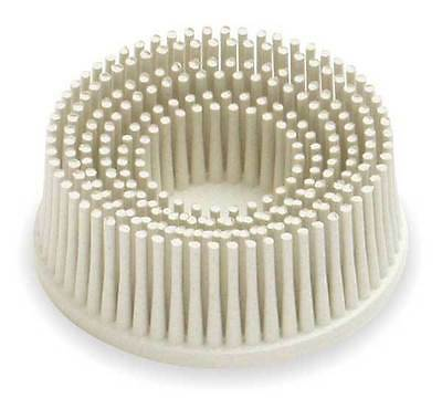 "3m 7528 2"" Scoth-brite Roloc Bristle Disc 120 Grit Fine White Cheapest on ebay"