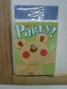 Details about  /AMERICAN GREETINGS BEAR IT/'S A PARTY INVITATIONS 10 PK NOTE CARDS NEW A21754