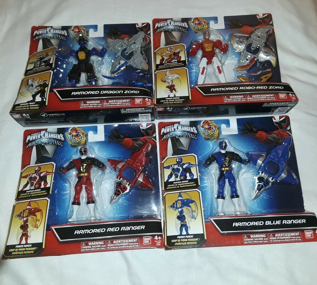 4 Power Rangers Ninja Steel ArmoROT Rangers