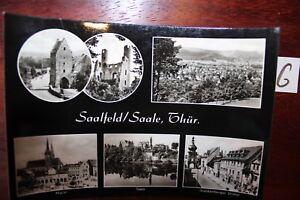 Carte Postale Vue Carte Thuringe Saalfeld Saale Fermée-afficher Le Titre D'origine Remise GéNéRale Sur La Vente 50-70%