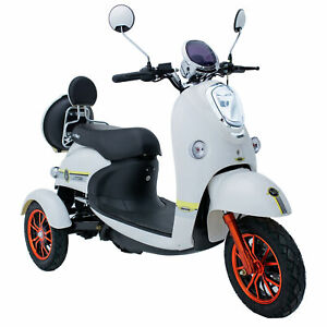Electric Mobility Scooter 3 Wheeled 60V20AH 800W LED LIGHT GREEN POWER