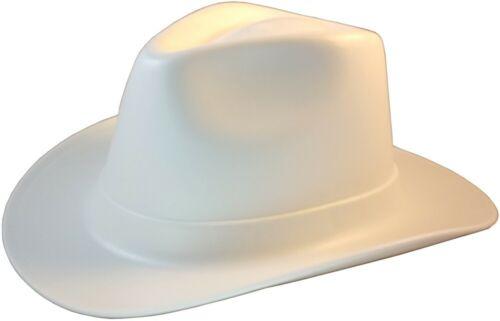 Occunomix Vulcan Series Cowboy Style Hard Hat w/ Ratchet Suspension - WHITE