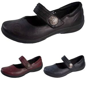 ab523dce58 Details about Padders Womens Mary Jane Leather Comfort Shoes Wide Fitting  Flat Orthopedic Size