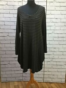 Masai-Black-Grey-Stripe-Large-Tunic-Dress