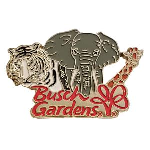 Busch Gardens Pin  Ambassadors White Bengal Tiger Elephant Giraffe