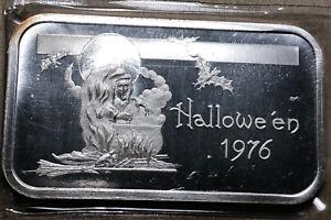 1976-Halloween-Madison-Mint-1-Ounce-999-Silver-Art-Bar