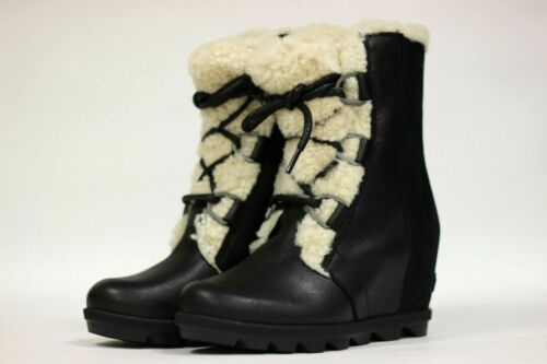 Details about  /Sorel Women/'s Joan Of Arctic Wedge II Shearling NEW AUTHENTIC Black NL3369-010