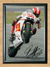Marco Simoncelli Honda Moto GP Signed Autographed A4 Print Photo Poster Rider F1