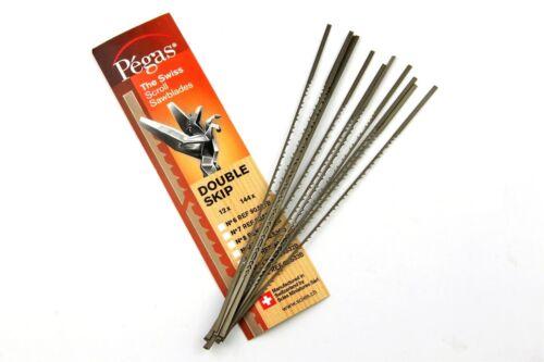 "Pack De 1 Douzaines 5/"" SWISS MADE Pegas double Skip Scroll Saw Blades # #2//0-12"