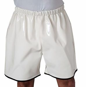 Lack-PVC-Shorts-mit-Gummizug-Freizeit-Shorts-Groesse-M-L-XL-2XL-3XL