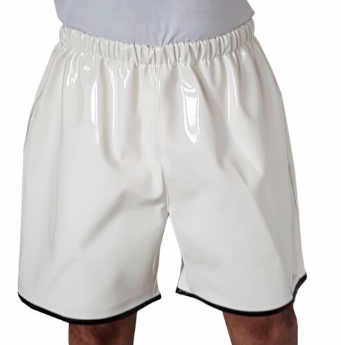 Lacquer PVC Shorts with Elastic Band Leisure Shorts Size M~L~XL~2XL ~ 3XL