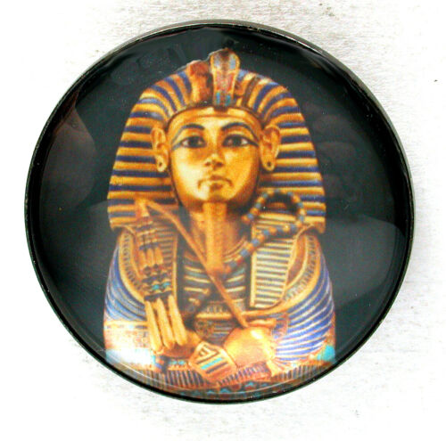 King Tut Sarcophagus Glass Dome Button 1 /& 3//8 inch FREE US SHIPPING 120 A
