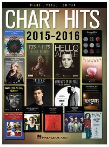 Play Chart Hits Of 2015-2016 One Direction COLDPLAY PIANO PVG GUITAR MUSIC BOOK