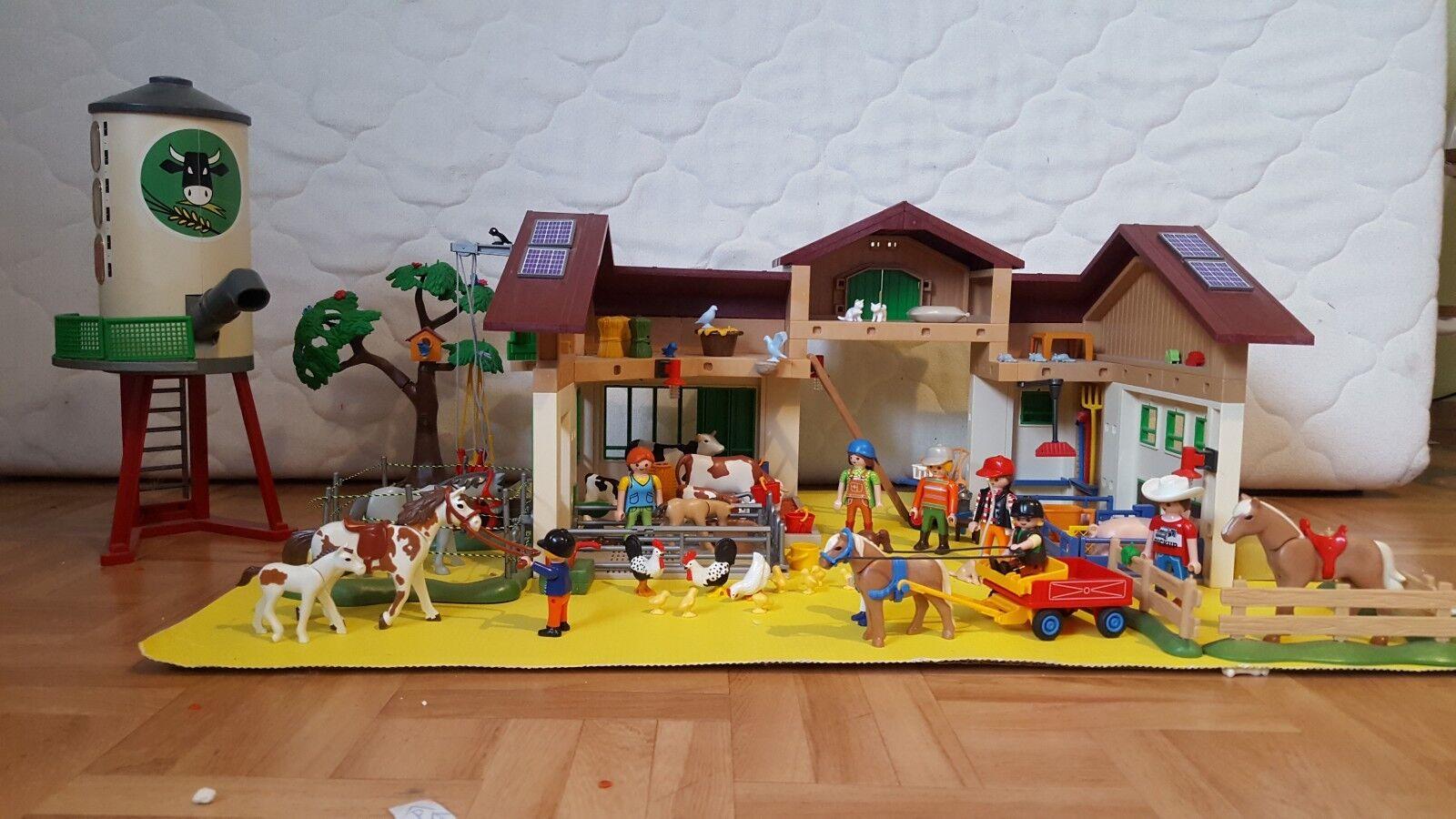 Playmobil 5119 + 5120 + 6811Grosser Bauernhof m. Silo, Bauernhaus m.Hofladen,..