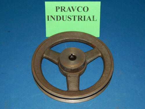 """Pulley Sheave Single Groove 5.75/"""" Outer Diameter .5/"""" Fixed Bore .125/"""" Key"""