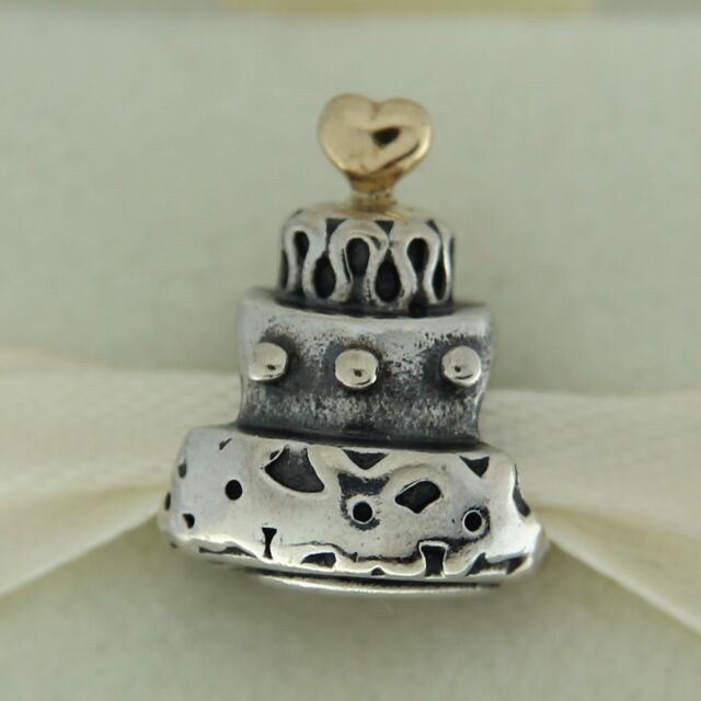 Authentic Pandora Celebration Cake Charm With Sterling Silver 14 K