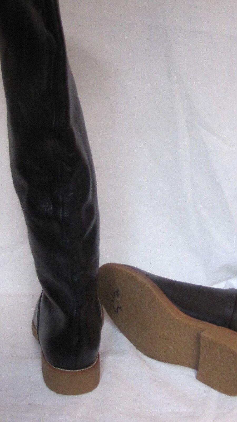 7 For All Mankind MUJER botas Cuero Negro Darby Zapatos botas MUJER de Invierno 5.5 9252e5