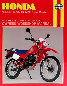 Haynes-Manual-for-Honda-XR80-XR100-XR125-XR185-XR200-workshop-etc-HM0566