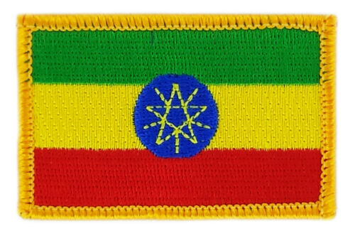 FLAG PATCH PATCHES ETHIOPIA ETHIOPIAN IRON ON COUNTRY EMBROIDERED WORLD FLAG