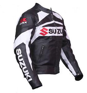 Suzuki-GSXR-Motorcycle-Jackets-Biker-Racer-Leather-Motorbike-Armour-Sport-Jacket