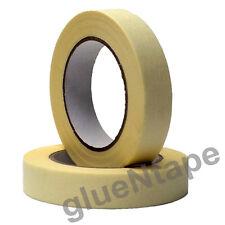 "Masking Tape 1"" 60 yards, White Paper, Nature Rubber Adhesive 12 Rolls"