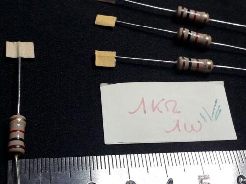 . 4pcs 1kOHM 1W.condensateur.resistance.couleur.