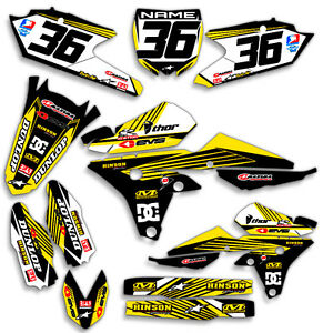 2003-2004-YAMAHA-YZ-250F-YZ450F-GRAPHICS-KIT-RIDGELINE-BLUE-YELLOW-DECALS
