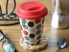 LA CAFETIERE Multi Spots SMALL Insulated PORCELAIN TRAVEL MUG