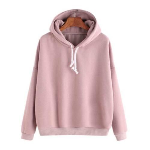 Womens Long Sleeve Hoodie Sweatshirts Jumper Sweater Hooded Pullover Tops Coats