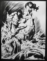 ORIGINAL INKED ART BY MICHAEL MAIKOWSKY~after John Buscema~teammate of Red Sonja