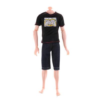 Boyfriend Ken Prince Doll T-shirt Pants Casual Denim Clothes toy HK