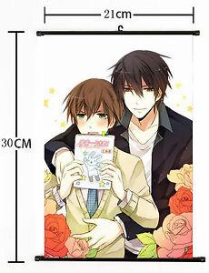 Wall Scroll Home Decor Sekai ichi Hatsukoi Japan Anime 30*21CM 023