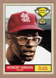 Bob Gibson '59 St Louis Cardinals Rookie Stars series #15 by Monarch Corona