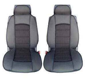 Image Is Loading Car Seat Covers Black Front Universal Cushion Pair