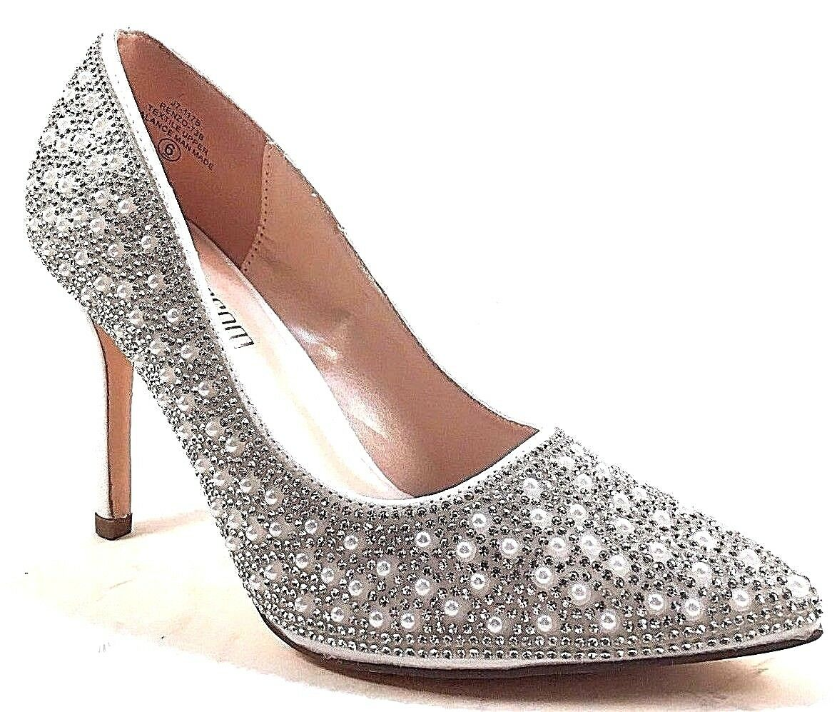 De Blossom  sposa Renzo -73B Bianco Dress Pointy Toe High Heel Pump  best-seller
