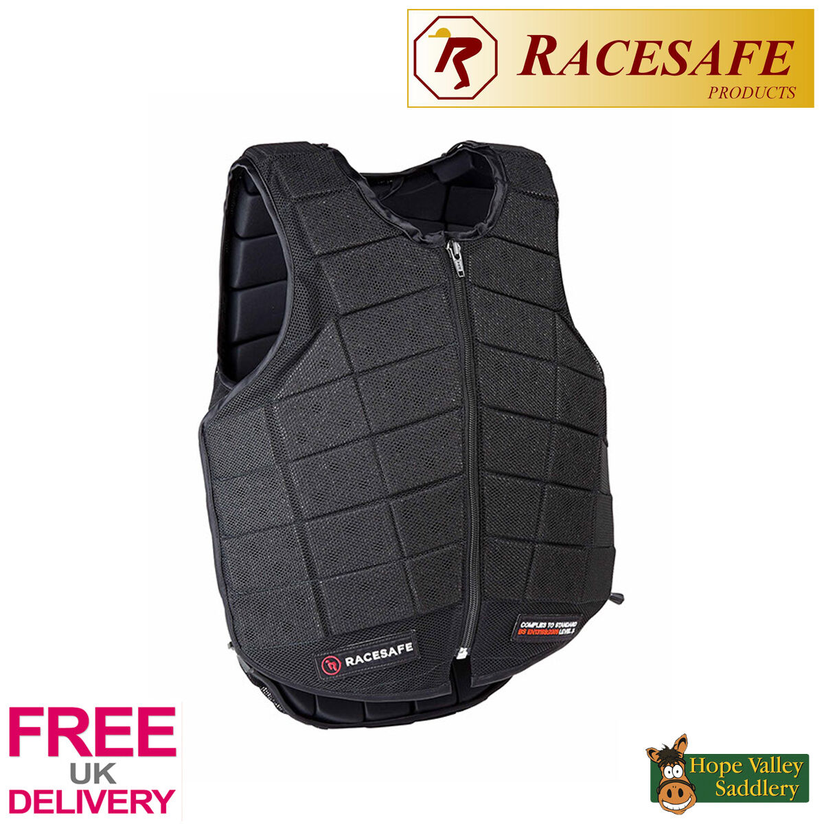 Racesafe Adult Provent UK 3 Body Protector FREE UK Provent Shipping 6535eb